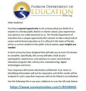 FLDOE Student Survey on CTE